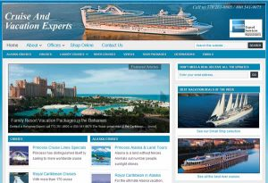 Travel agency website made with WordPress and Genesis