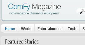Wordpress theme Comfy