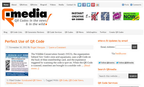 Marketing QR codes websites wordpress