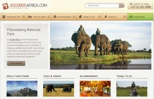 Safaris in Africa website
