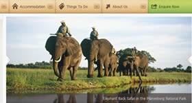 Safaris in Africa made with Expressionengine.