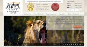 South Africa travel website made less css, html5 and typekit fonts.