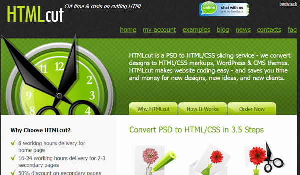 WordPress custom theme for HTMLcut processing PSD to css and xhtml.