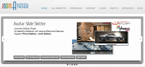 JoomAvatar provides Joomla Templates and Joomla Extensions