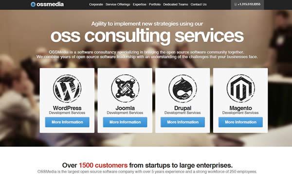 OssMedia is a developer designer in WordPress, Joomla, Drupal and Magneto.