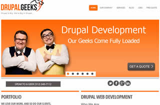 Drupal Website design developers ecommerce