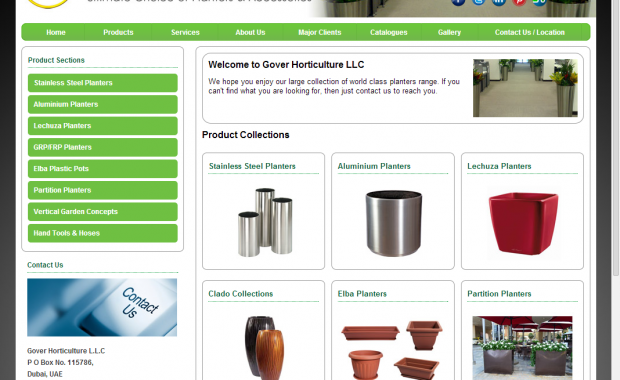 eCommerce website for planters, Grover