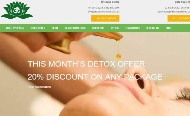 Ayurveda ecommerce WordPress website