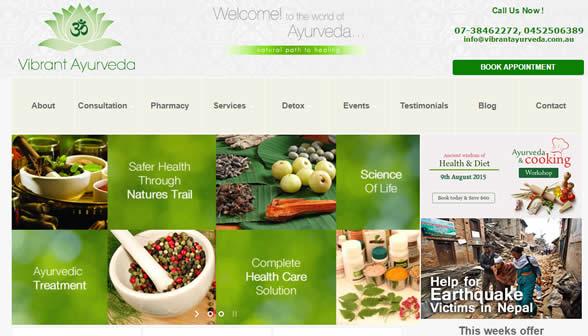 Ayurveda WordPress by Aussie IT group