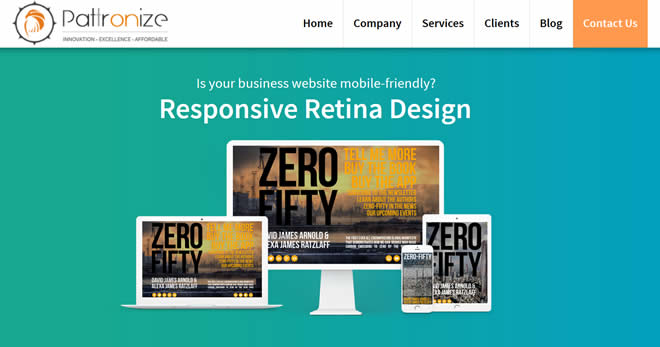 pattronize web design