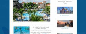 cruise vacation travel wordpress website