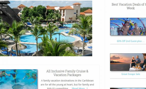 cruise vacation travel wordpress website