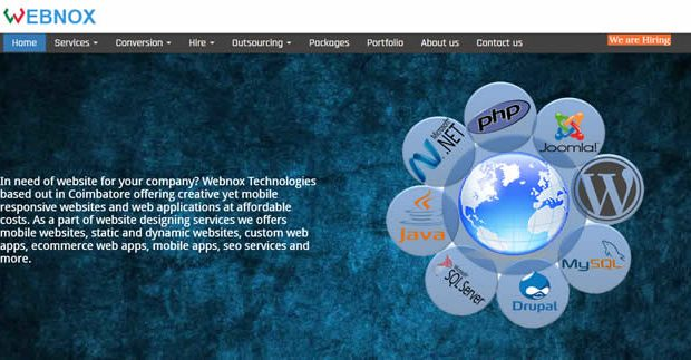 webnox website