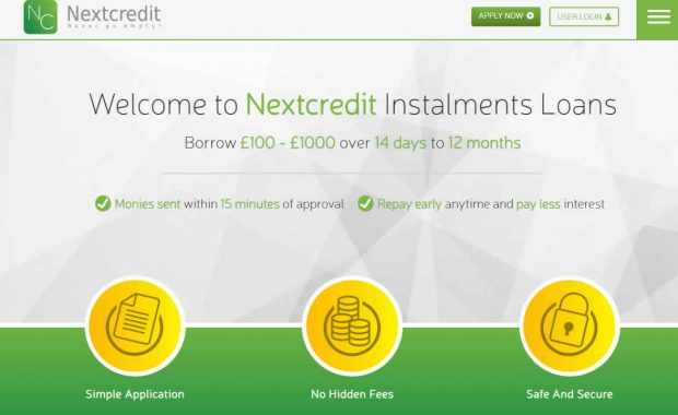 next credit website