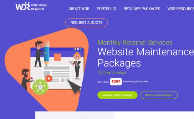 wdr Web Design website