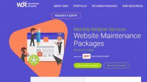 wdr Web Design website