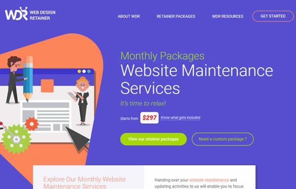Web Design Retainer Laravel