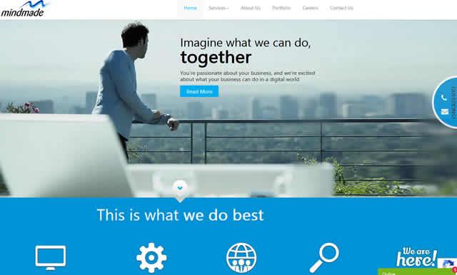 mindmade web design in Inda.