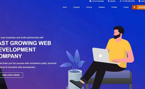 Rginfotech WordPress website