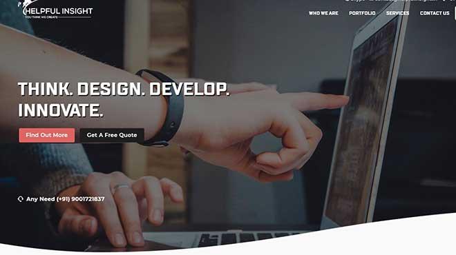 Helpful Insight web design