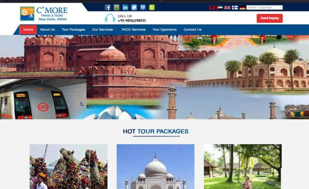 C More Travel and Tours website